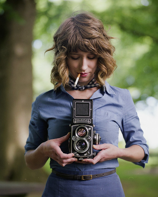 A Girl and Her Rollei
