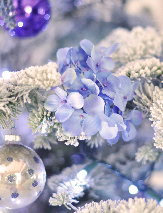 flowering christmas tree-hair clips diy
