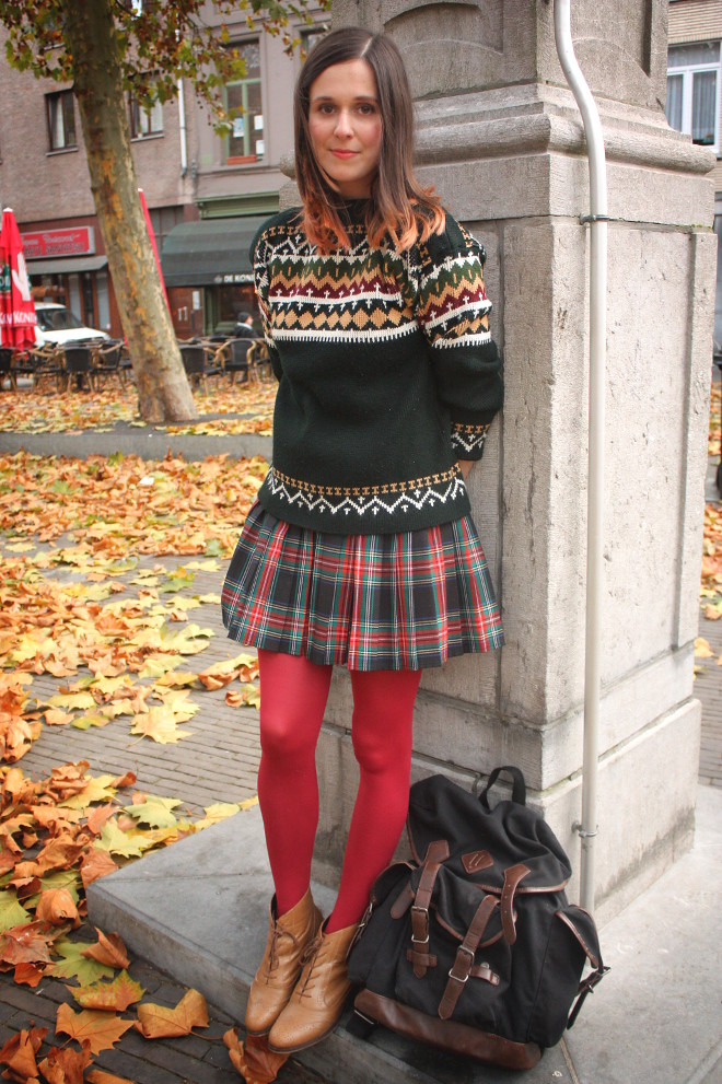 Fairisle and Schoolskirt and hazing. - THE STYLING DUTCHMAN.