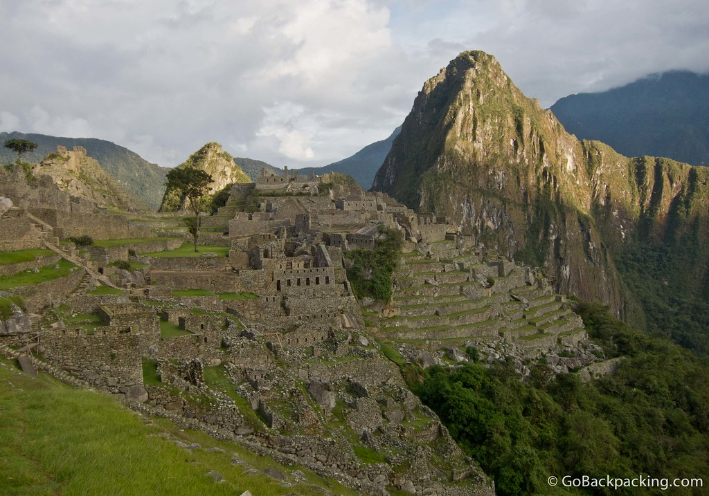 My first view of Machu Picchu, without a single other person in the photo