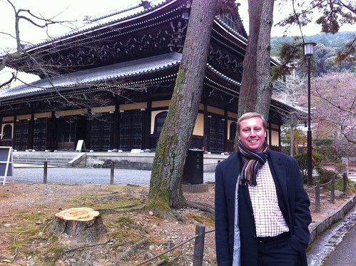 Marc at temple in Kyoto