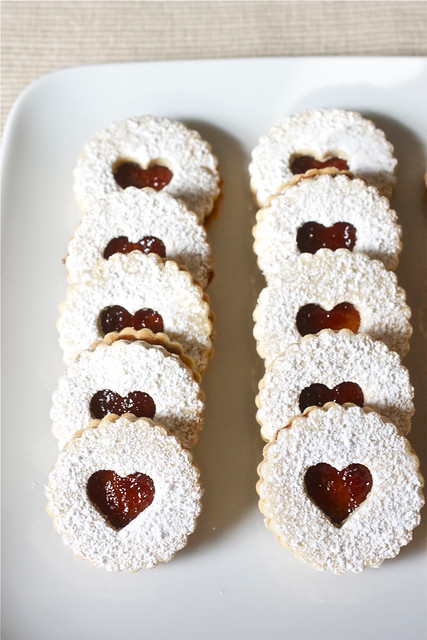 Pecan Linzer Cookies With Cherry Filling Recipes — Dishmaps