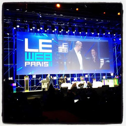 C'est parti ! @loic rappelle que #leweb est en streaming direct live