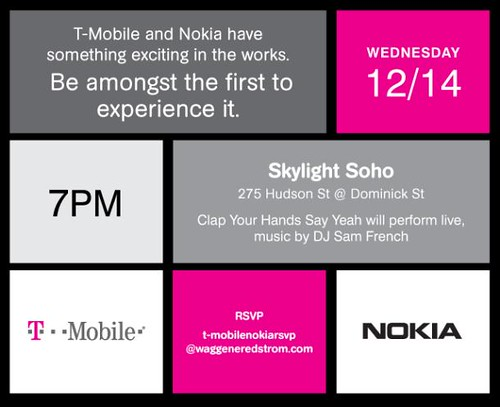 T-Mobile Nokia Event Dec 14