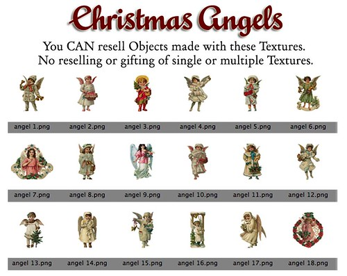 Shabby Chic Vintage Victorian Christmas Angel Textures by Shabby Chics