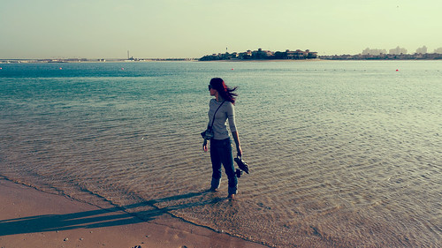 Palm Jumeirah beach