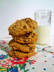 Chocolate Cherry Almond Oatmeal Cookies