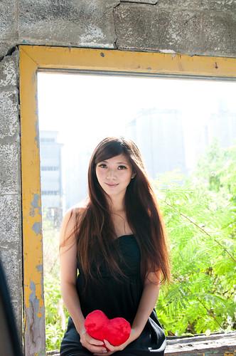 [フリー画像素材] 人物, 女性 - アジア, 台湾人, ハート ID:201303150800