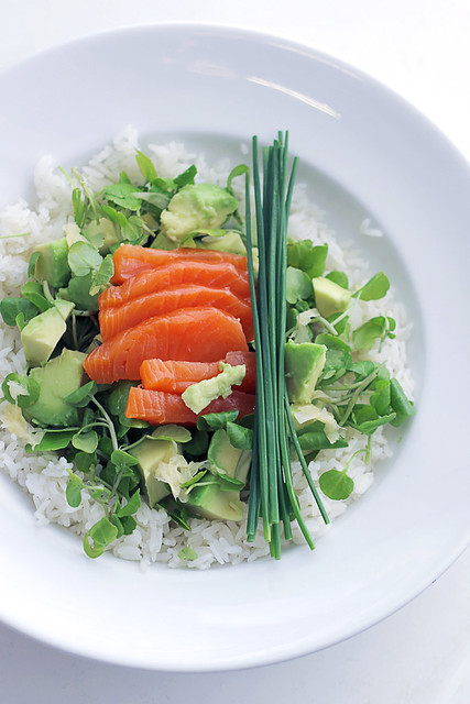 Salmon, Avocado and Rice