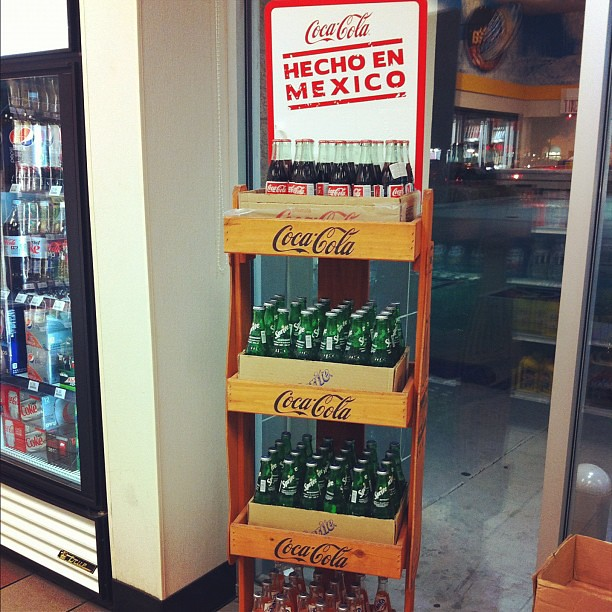 Project 365 342/365: Random things at the gas station in Orange County: an entire display of Mexican Coke.