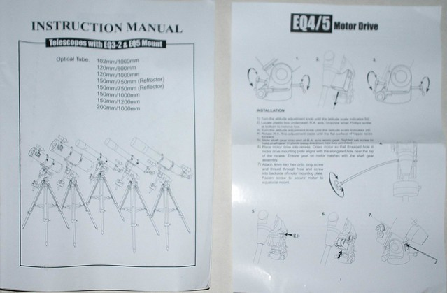 Telescope instruction manuals