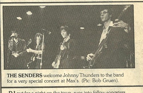 1978 Senders -w- Johnny Thunders @ Max's Kansas City (Bob Gruen - Rock Scene Magazine)