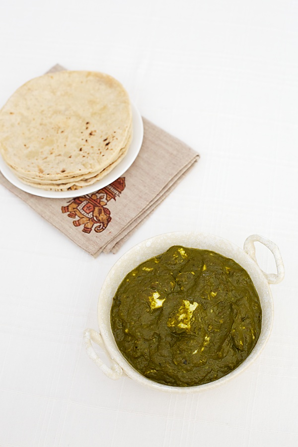 Palak Paneer/Seasoned Spinach With Paneer Cheese
