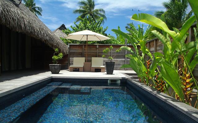 Hilton moorea lagoon resort spa private pool flickr for Garden pool suite hilton moorea