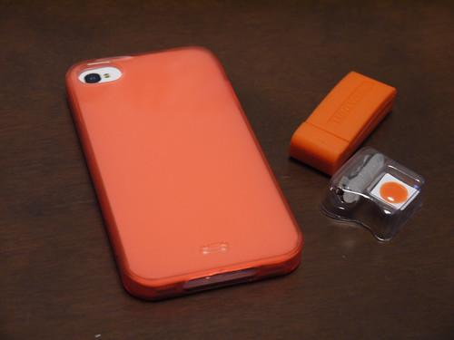 iPhone 4S オレンジカバー