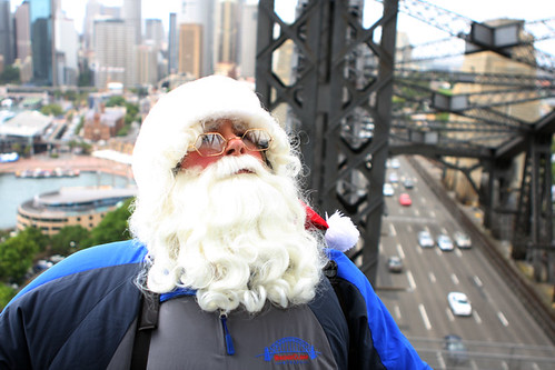 Santa Claus, Sydney Harbour Bridge by Eva Rinaldi Celebrity and Live Music Photographer