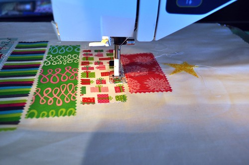 The Quilted Tree ~ Raw-edge Applique of The Rows