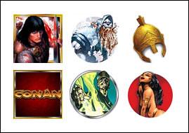 free Conan the Barbarian slot game symbols