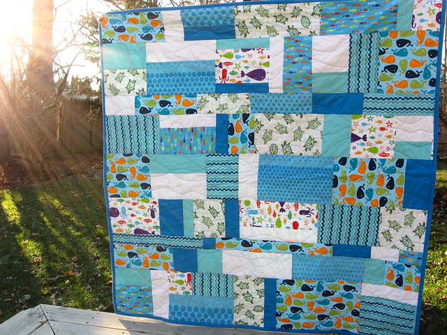 swimmy quilt for Miles