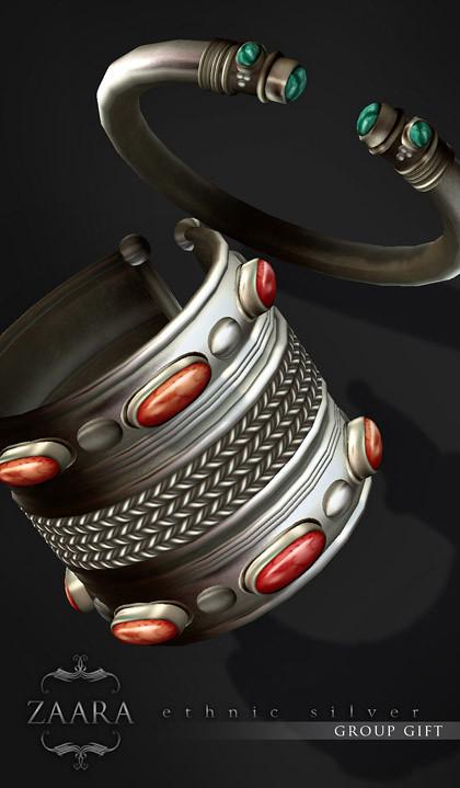 {Zaara} silver kada bracelets : Group Gift!