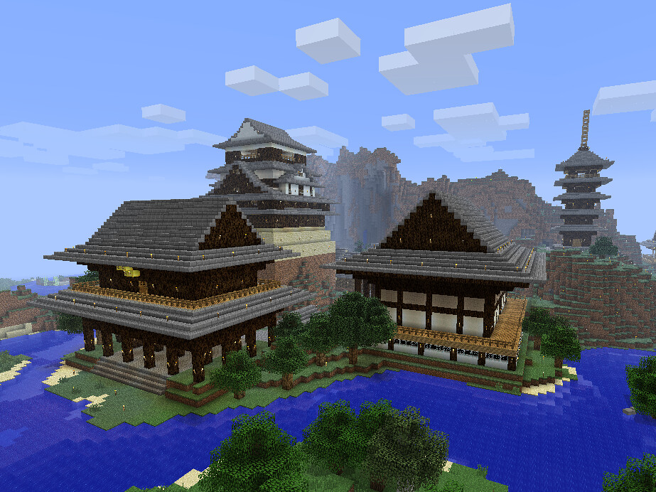 minecraft japanese city