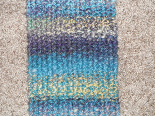 close up of the seed stitch