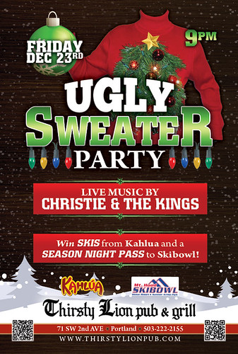 Ugly Sweater Party at Thirsty Lion Pub