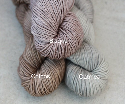 Comparison of Bisque, Chinos & Oatmeal