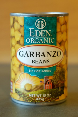 Organic garbanzo beans in a BPA-free can from Eden by Eve Fox, Garden of Eating blog, copyright 2011