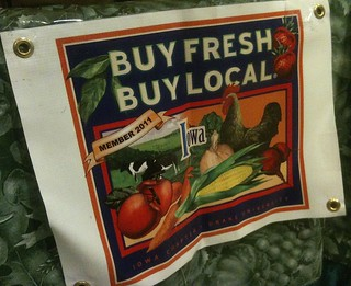 """Buy fresh, buy local"" campaign sign"