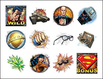 free Superman slot game symbols