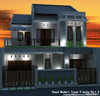 60+ gambar rumah modern tropis 2 lantai terbaru - neos design