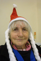 "Self portrait ""au naturelle"" with Santa hat by Julie70"