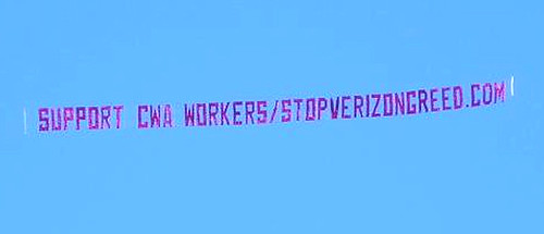 CWA Banner Over Ravens Game