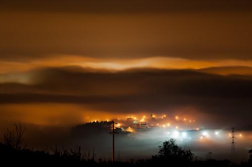 fog night clouds leiria sradomonte