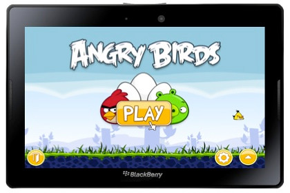 Play Angry Birds from Rovio Entertainment on the BlackBerry PlayBook.