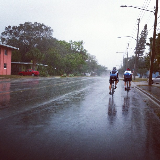 Rain does not help. #festive500