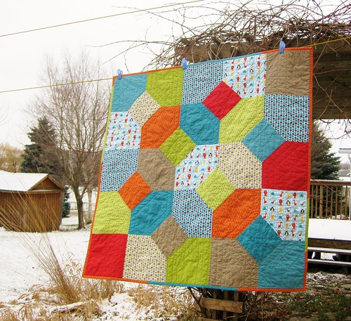 Christmas gifts, Miles' quilt