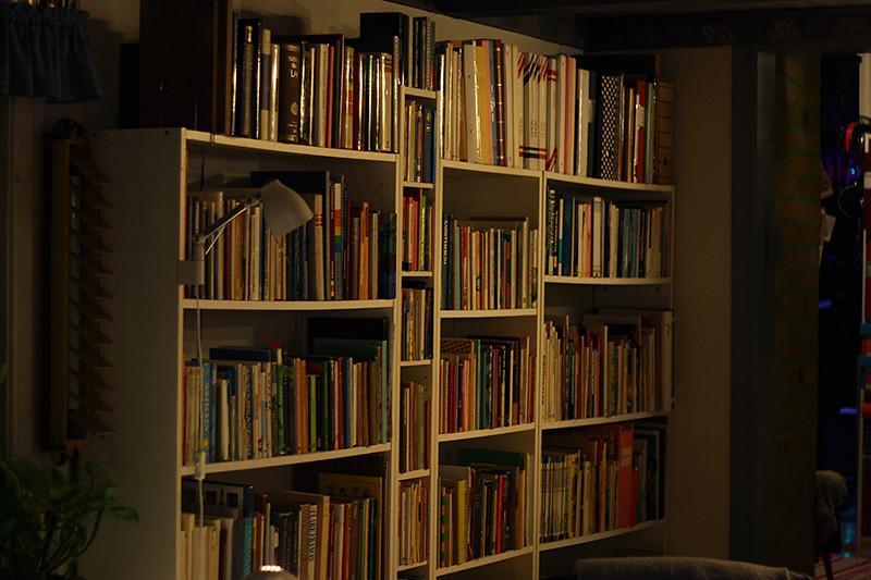 bokhyllor överallt