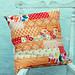 orange brick set cushion
