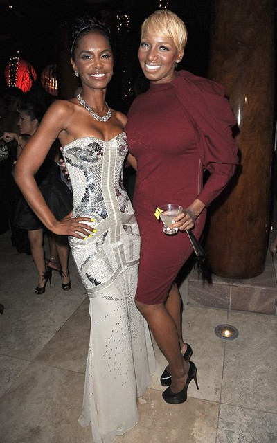 Kim Porter at Diddy new year party Miami 2012