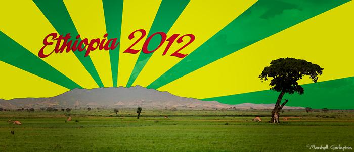 Ethiopia landscape flag