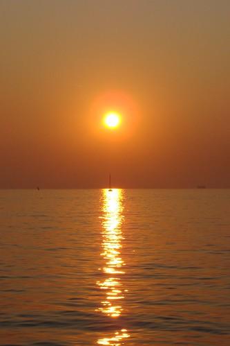 sunset red sea italy panorama sun seaside europa europe italia tramonto mare horizon sole rosso fvg trieste adriaticsea orizzonte friuliveneziagiulia golfoditrieste maradriatico gulfoftrieste holidays2009 vacanze2009