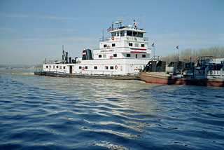 99b023: James G. Hines upbound in Portland Canal on Ohio River at Louisville