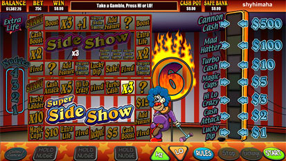 super-sideshow free spins