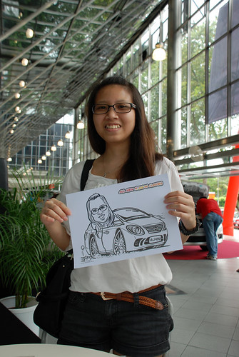 Caricature live sketching for Tan Chong Nissan Almera Soft Launch - Day 2 - 12