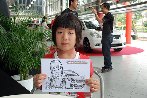 Caricature live sketching for Tan Chong Nissan Almera Soft Launch - Day 2 - 15