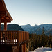 Small photo of Raven Lodge and Mount Albert Edward
