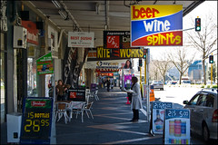 Stores along Symonds Street in Grafton