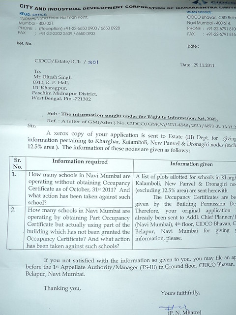 Schools Operating without procuring Occupancy Certificate or by ...